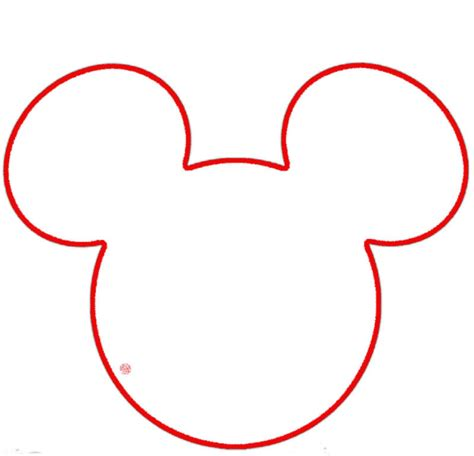 headshot border template mickey mouse outline cliparts co