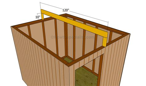 how to build a roof for a shed howtospecialist how to build step by step diy plans