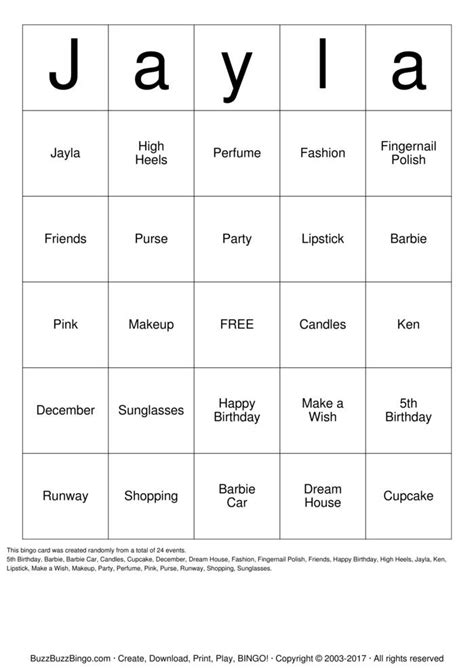 barbie printable board games barbie bingo cards to download print and customize