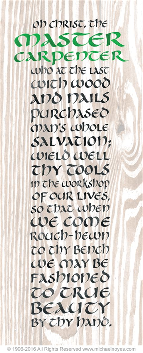 carpenter calligraphy art plaques inspirational gifts