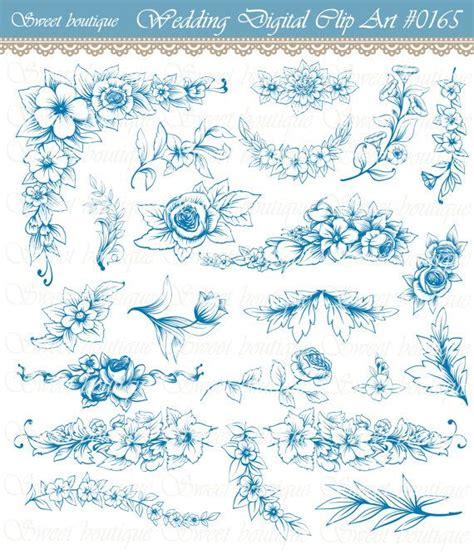 Wedding Borders Navy Blue by Navy Blue Border Clip 73