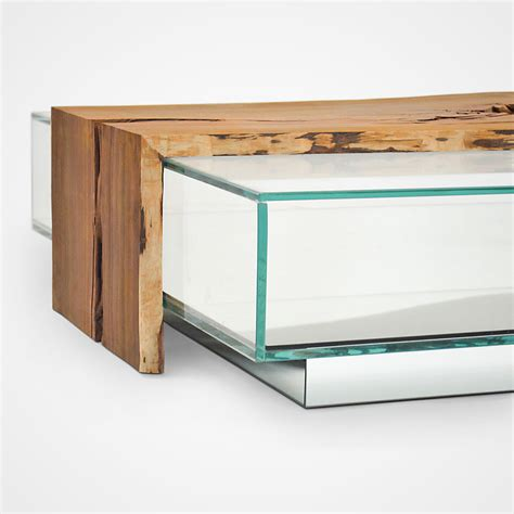 Glass Box Coffee Table Cocobolo Glass Box Coffee Table Rotsen Furniture