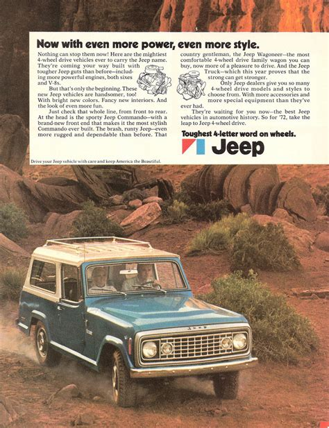 vintage jeep ad 1972 jeep ad 0a