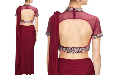 net blouse pattern 2015 27 backless blouse designs for raw sensual appeal