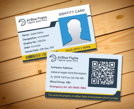 Employee Id Card Template Cdr by Company Id Card Design Template Free Vector For Free