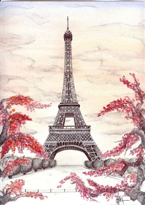 beautiful eiffel tower 40 most beautiful and detailed eiffel tower drawings