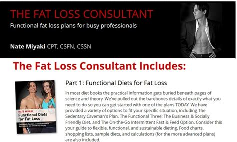 Weight Loss Consultant by Safe Weight Loss Loss Consultant Reveals Functional Loss Plans For Busy