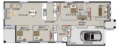 175 m2 narrow lot 4 bedroom house plans narrow home narrow lot 4 bedroom house plan 4 bed narrow lot style