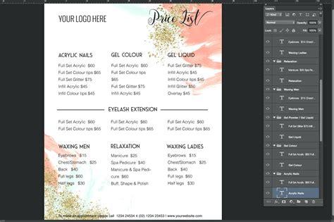 menu price list template price menu template contemporary resume ideas
