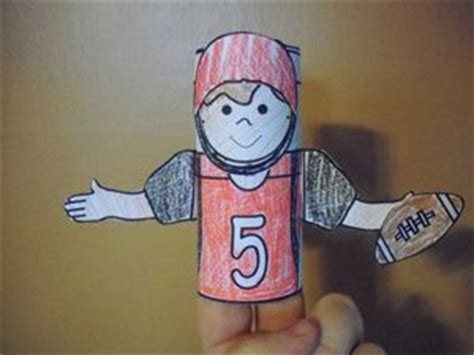 How To Make A Paper Football Player - 17 best images about superbowl 46 early education