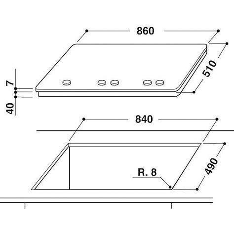 piano cottura ixelium whirlpool piano cottura linea fusion ixelium gmf9522ixl
