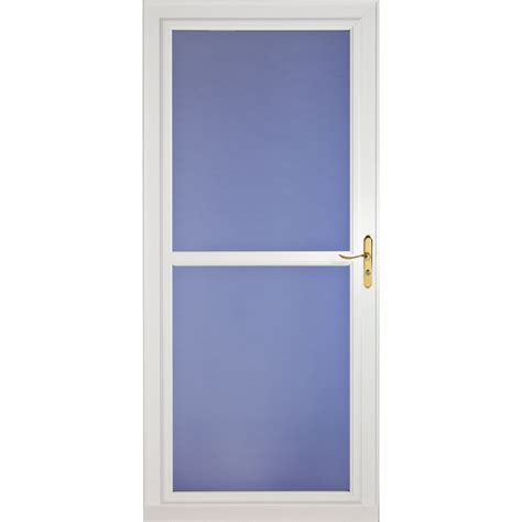 Screen Door Glass Shop Larson Tradewinds White View Tempered Glass