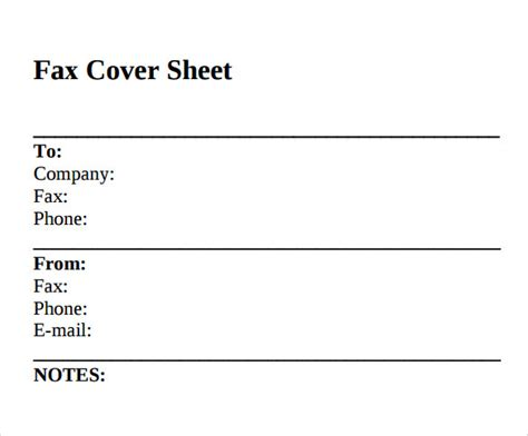 free printable standard fax cover sheet sle standard fax cover sheet 11 documents in word pdf