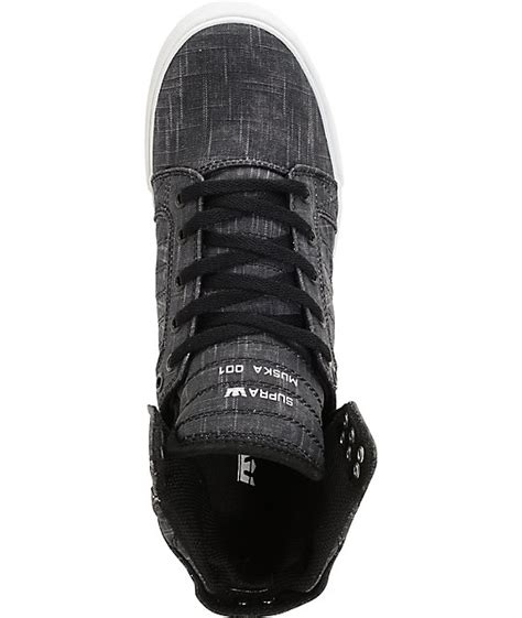 supra skytop washed black canvas skate shoes zumiez