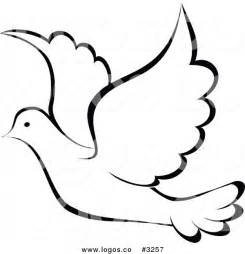 White Dove Template by Dove Bird Flying Clipart