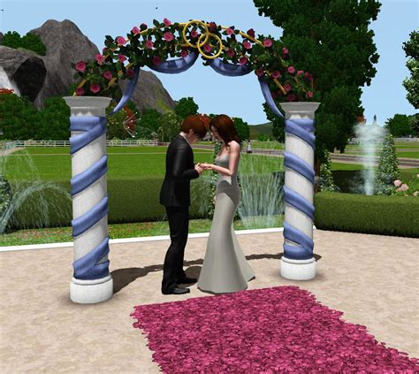 Wedding Arch In Sims 3 by Mod The Sims Wedding Arches Ts2 Celebration Sp Ts4