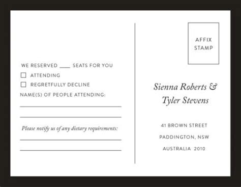 Minimal Real Foil Wedding Invitations Dietary Requirements Email Template