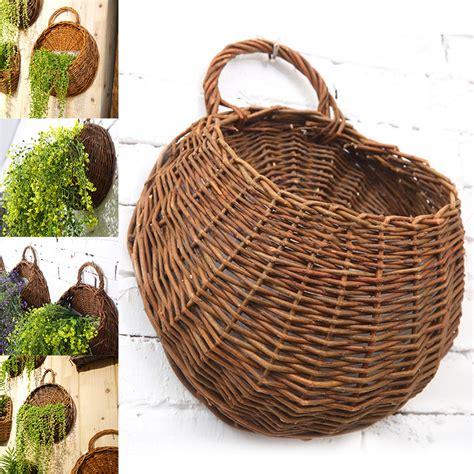 basket home decor wall hanging flower plant basket for garden outdoor indoor