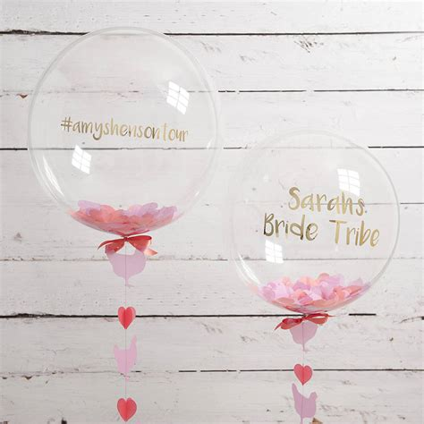 personalised hen party confetti balloon by bubblegum