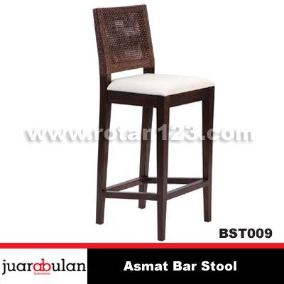 Kursi Bar Stool harga jual asmat bar stool kursi bar rotan alami model