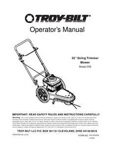 troy bilt trimmer 258 user s guide manualsonline com