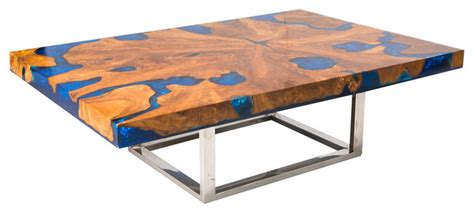 Blue Cracked Resin Coffee Table   Modern   Coffee Tables   by Aire Furniture