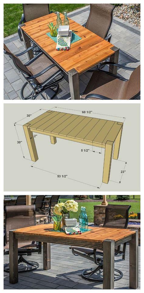 diy cedar patio table  plans  buildsomethingcom