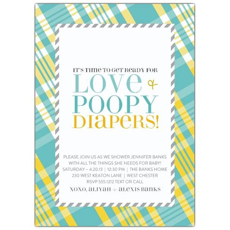 Diapers And Wipes Shower Invitation by Love And Poopy Diapers Blue Baby Shower Invitations