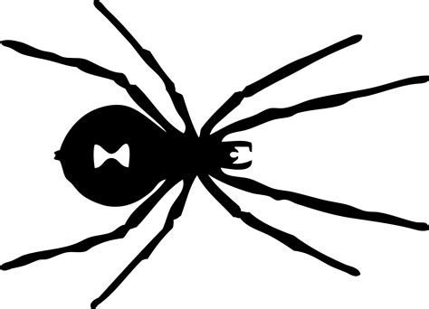 Spider Clipart Black And White Wallpapers Gallery Black Widow Spider Coloring Pages