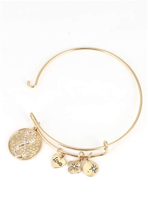 infinity charm bracelets metal infinity charm bracelet bracelets