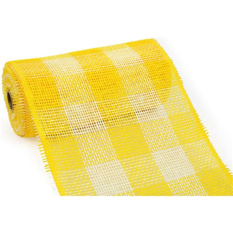 How To Make Paper Mesh - 10 quot paper mesh roll yellow plaid rr800245