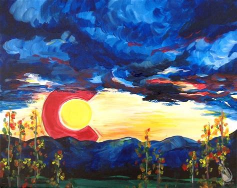 paint with a twist east colorado springs waitlist colorado sunset 35 friday april 14 2017