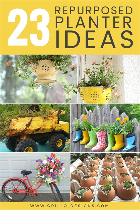 ideas for 23 repurposed planter ideas for your home garden