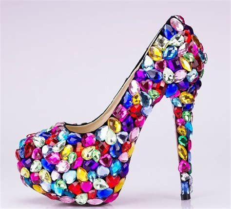 Spesial Sandal Lolipop Nn16 Termurah glitter fashion multicolor wedding shoes platform high heel evening shoes