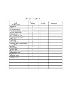 Home Pantry Inventory Software by Pantry Inventory List
