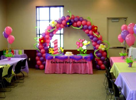 Birthday Decoration Ideas At Home With Balloons Balloon Decorations Ideas For Dromidd Top Decoration Balloons Flowers And Rainbow