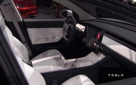 Tesla Interior Pictures Tesla Model 3 Interior Indian Autos