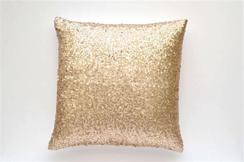 Gold Sparkle Pillow by 20 X 20 Sequin Pillow Cover Chagne Taffeta