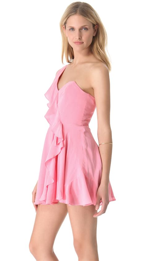 zimmermann draped dress zimmermann phoenix draped dress in pink lyst