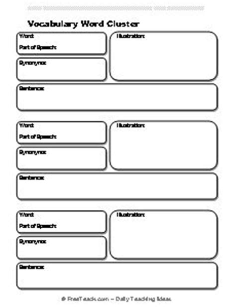 templates for word definition 1000 images about vocabulary general on pinterest