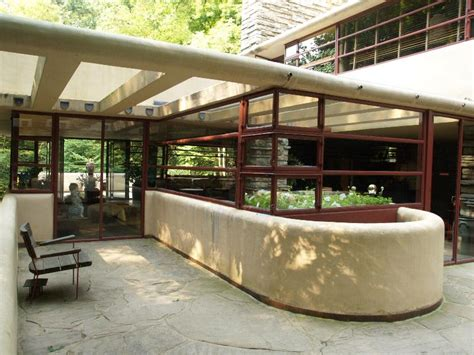 fallingwater house fallingwater pictures southeast terrace frank lloyd wright house above waterfall