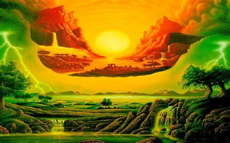 imagenes de fantasia wallpaper bunte fantasielandschaft hintergrundbilder bunte