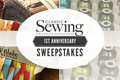 Sewing Machine Sweepstakes 2016 - classic sewing magazine s 1st anniversary sweepstakes the ribbon in my journal