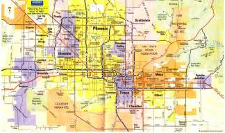 Phoenix Area Map by Phoenix Metro Map