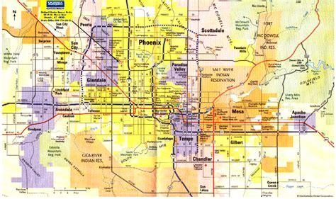 zip code map of phoenix phoenix metro map toursmaps com