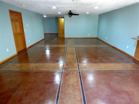 interior inspiration concrete floors bellemocha com deciding between tile flooring or interior concrete staining