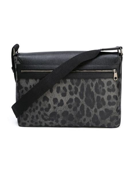 Dolce And Gabbana Taska Grey Handbag dolce gabbana leopard print messenger bag in gray for