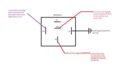 pilot fog light relay wiring diagram pilot free engine