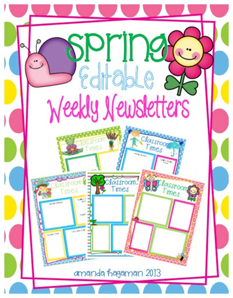 free april newsletter template let s get fancy in weekly newsletters