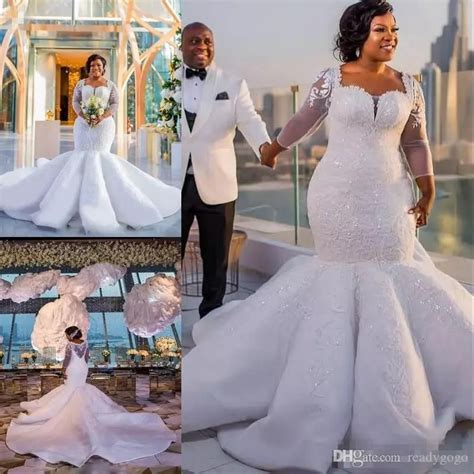 Gorgeous South Africa Wedding Dress Sparkle Sequins Beads
